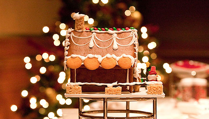 Gingerbread House Decorating at Pelican Hill