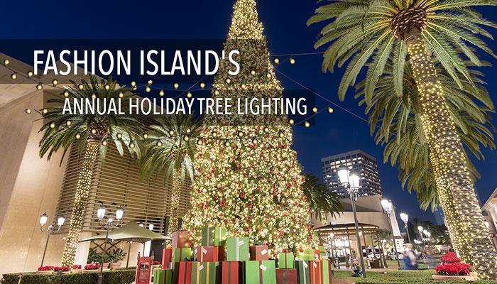 Christmas tree at fashion island