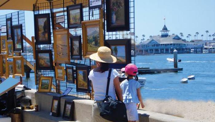 The Balboa Island Artwalk