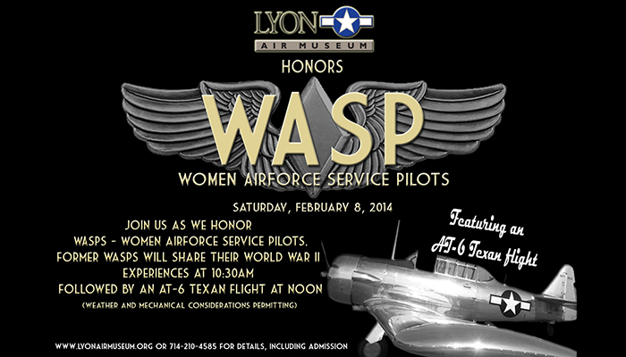 Lyon Air Museum to honor Women Airforce Service Pilots (WASP)