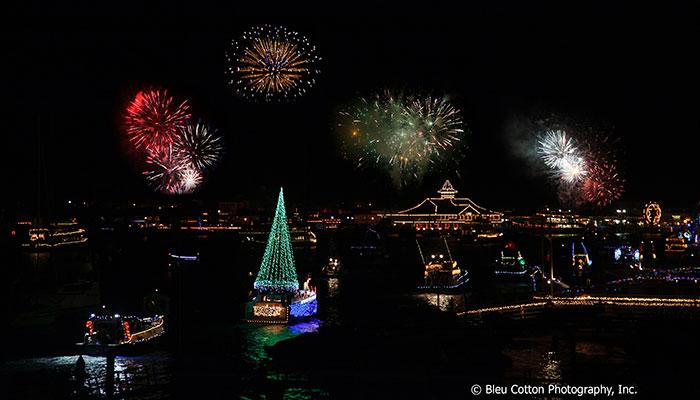 America's longest running lighted Christmas boat parade in beautiful Newport Beach, California