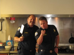 Engineer Jim Seziorski and Firefighter Mark Garman