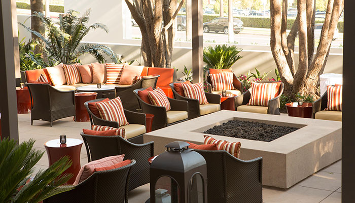 Newport Beach Island Hotel Outdoor Lounge
