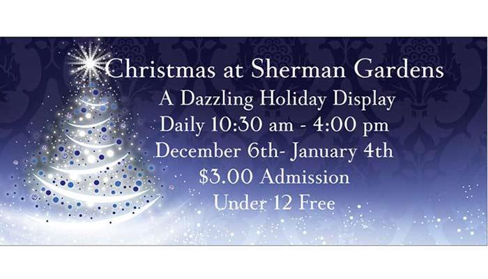 Holiday Display at Sherman Gardens
