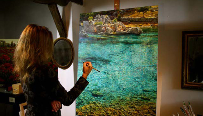 Lori Wylie and Caroline Zimmermann Art Show