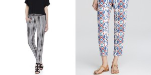 vnb printed pants