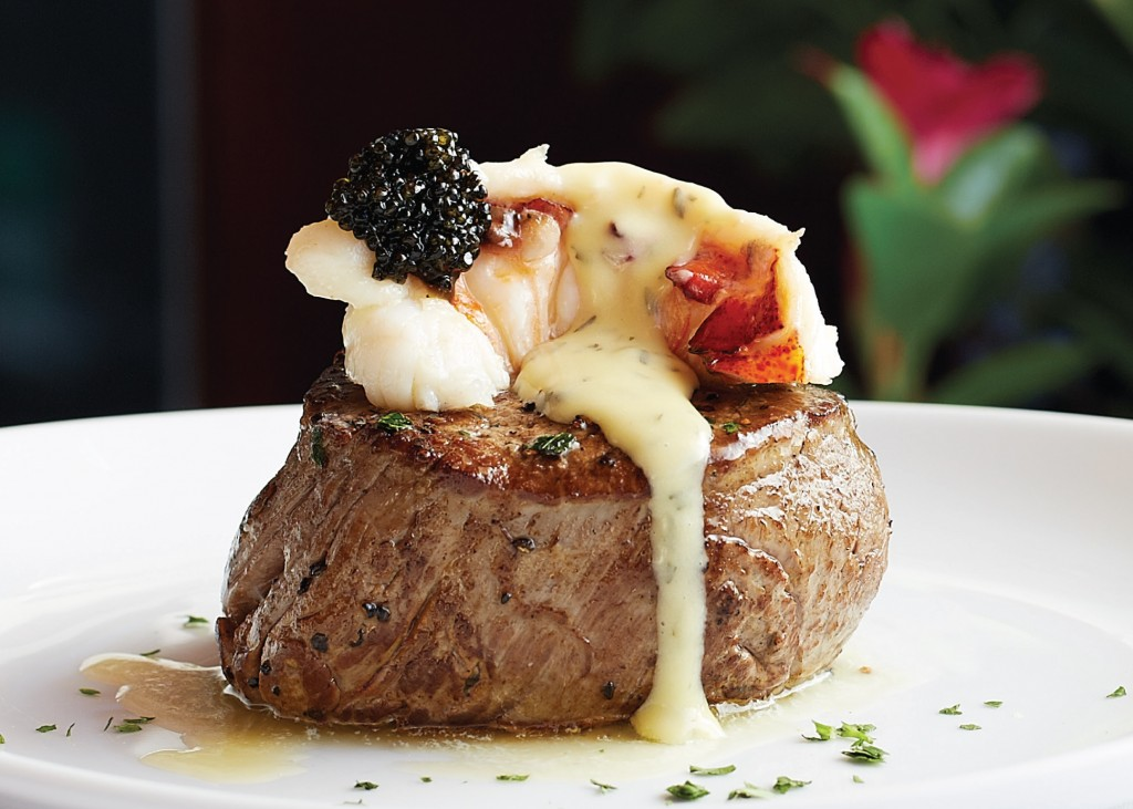 Main Filet with truffled poached lobster topping