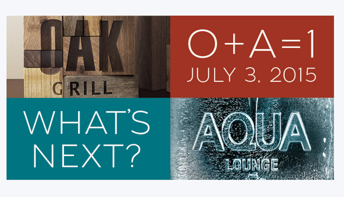 Oak Grill & Aqua Lounge One Year Anniversary
