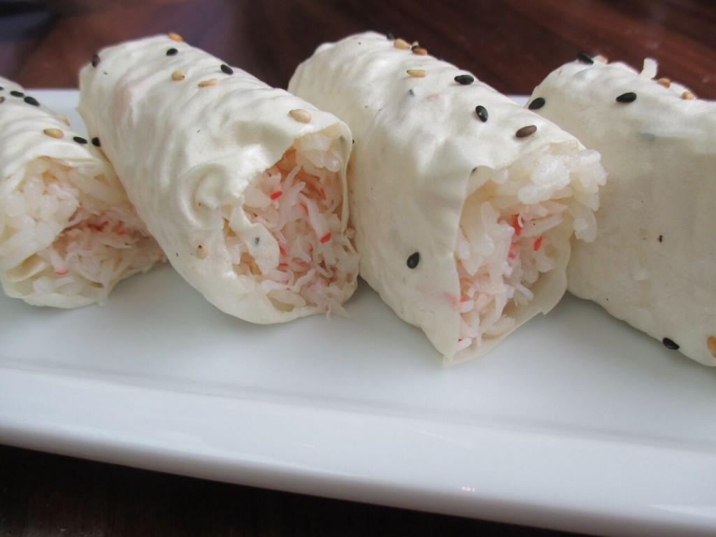Baked Crab Cut Roll sushi roku newport beach