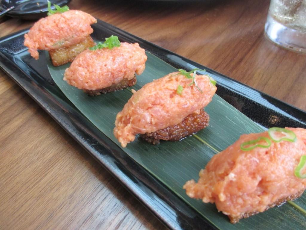 Hanabi Spicy Tuna sushi roku newport beach