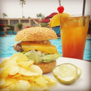 Hyatt NB Burger at Pool