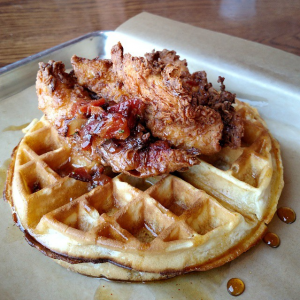 Dory Deli Fried Chicken Waffles (Joshua Lurie)