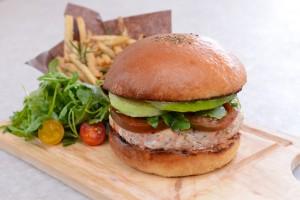 Fig & Olive Riviera Salmon Burger (Fig & Olive)