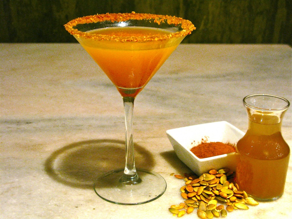Fig and Olive Pumpkin Spice Martini