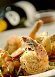 Wildfish - Salt and Pepper Shrimp with Holiday Champagne