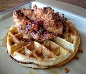 Dory Deli Fried Chicken Waffles (Joshua Lurie)