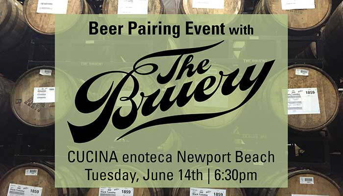 The Bruery Beer Pairing at Cucina Enoteca