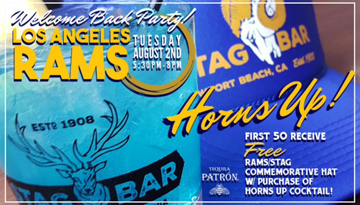 Welcome Back Rams Party at Stag Bar + Kitchen