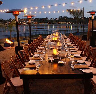 Dinner at the Beach - Newport Beach Style