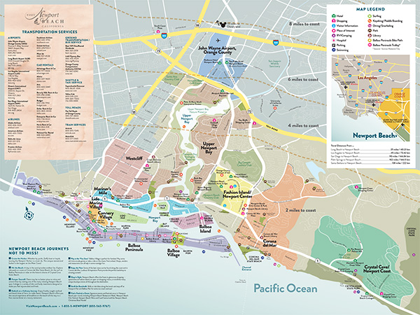 Full Map of Newport Beach | Visit Newport Beach California Coast Attractions Map on