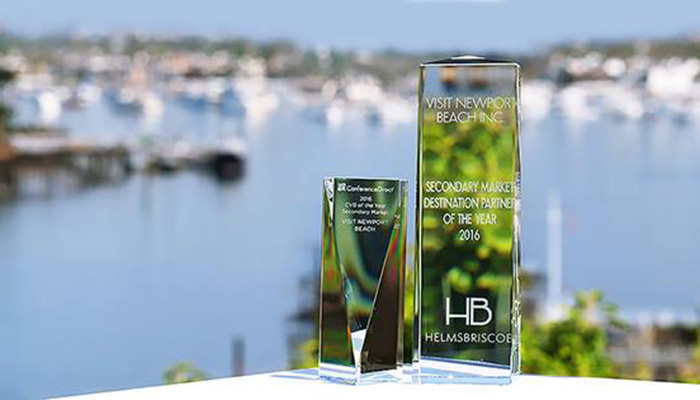 Trailblazing the secondary market space, experts HelmsBriscoe, ConferenceDirect and Meeting Sites Resources recognize Visit Newport Beach Inc. with top prizes
