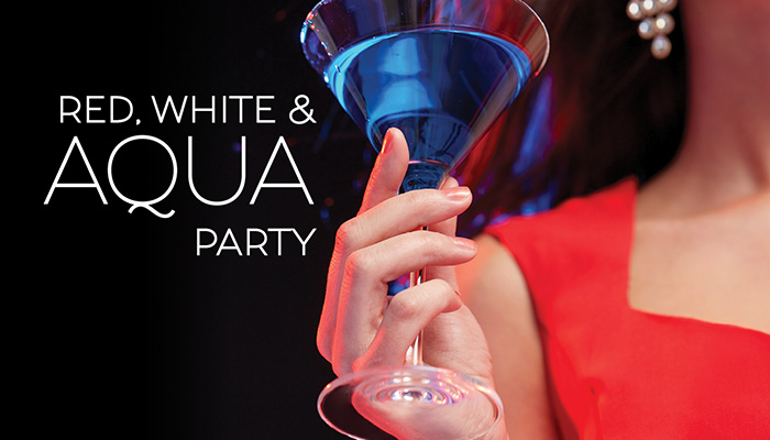 Red, White & Aqua Party