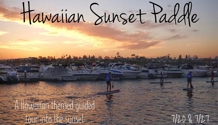 Hawaiian Sunset Stand Up Paddle