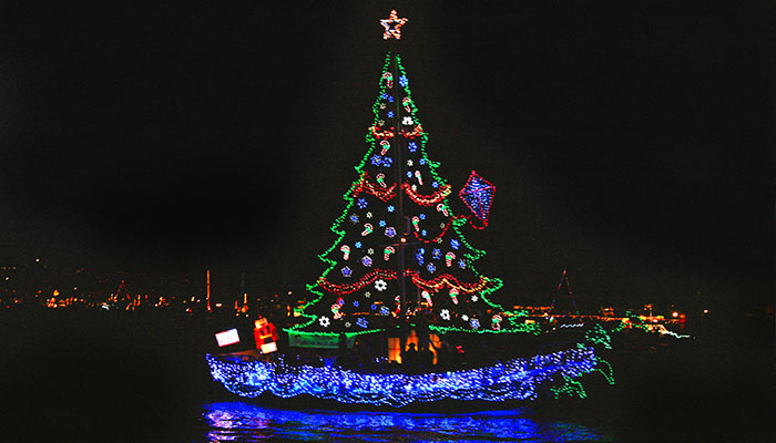 109th annual newport beach christmas boat parade at waterline - Newport Beach Christmas Boat Parade