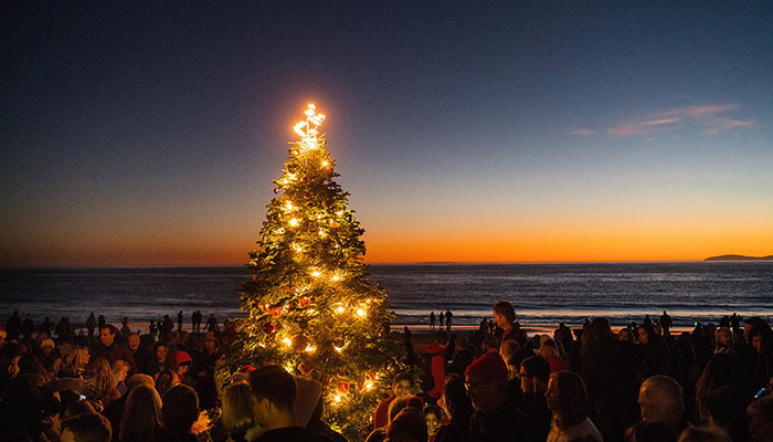 Celebrate Crystal Cove's Tree Lighting at The Beachcomber Cafe
