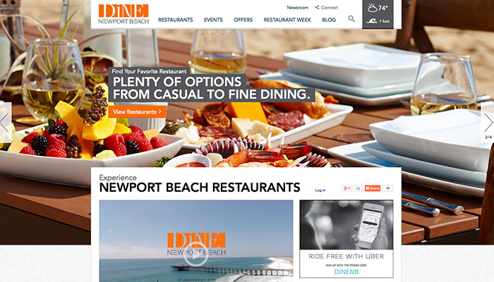 New Marketing Initiative in Newport Beach, Calif. Earns Platinum Status For Website and Mobile Design in First Three Months of Launch