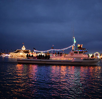 A Perfect View of the Christmas Boat Parade