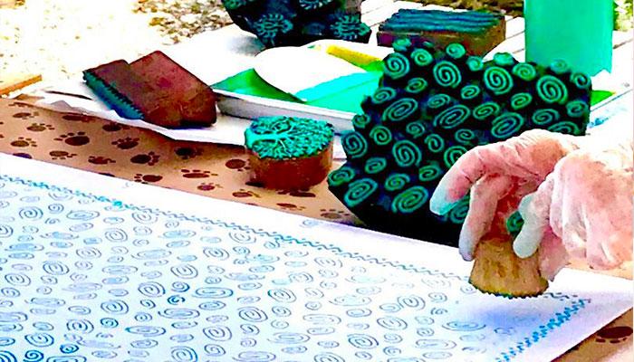 Block Printing Workshop at Seaside Gallery