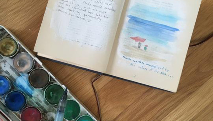 Up-Cycled Travel Journal Workshop at Seaside Gallery