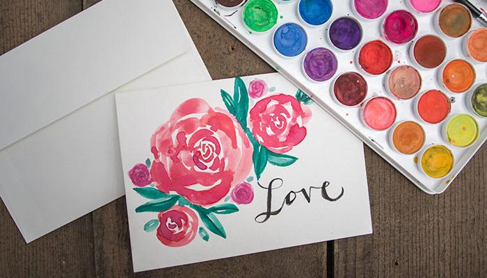 Valentine's Day Watercolor Workshop
