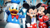 Donald Duck, Mickey Mouse, and Minnie Mouse