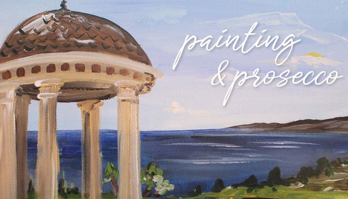 Painting & Prosecco at Pelican Hill