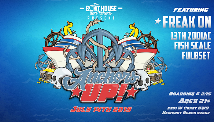 Anchors Up! Yacht Party + House Music