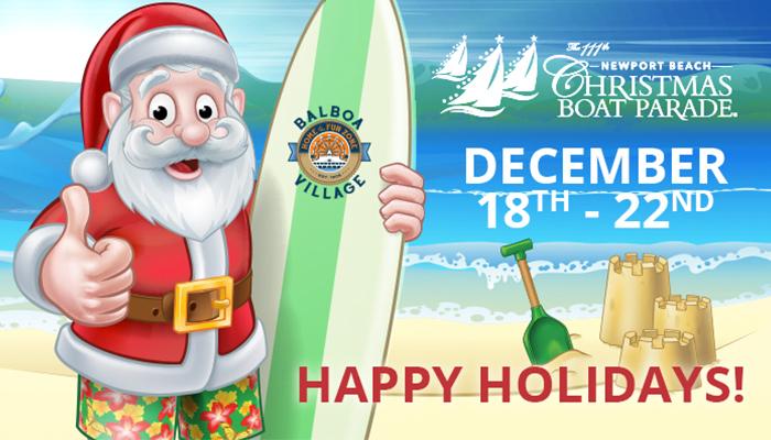 Christmas Boat Parade at Balboa Village