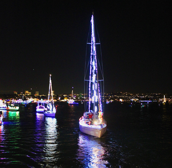 Boat parade in Newport Beach