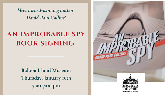 An Improbable Spy by David Paul Collins – Book Signing