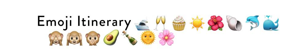 Newport Beach Emoji Itineraries