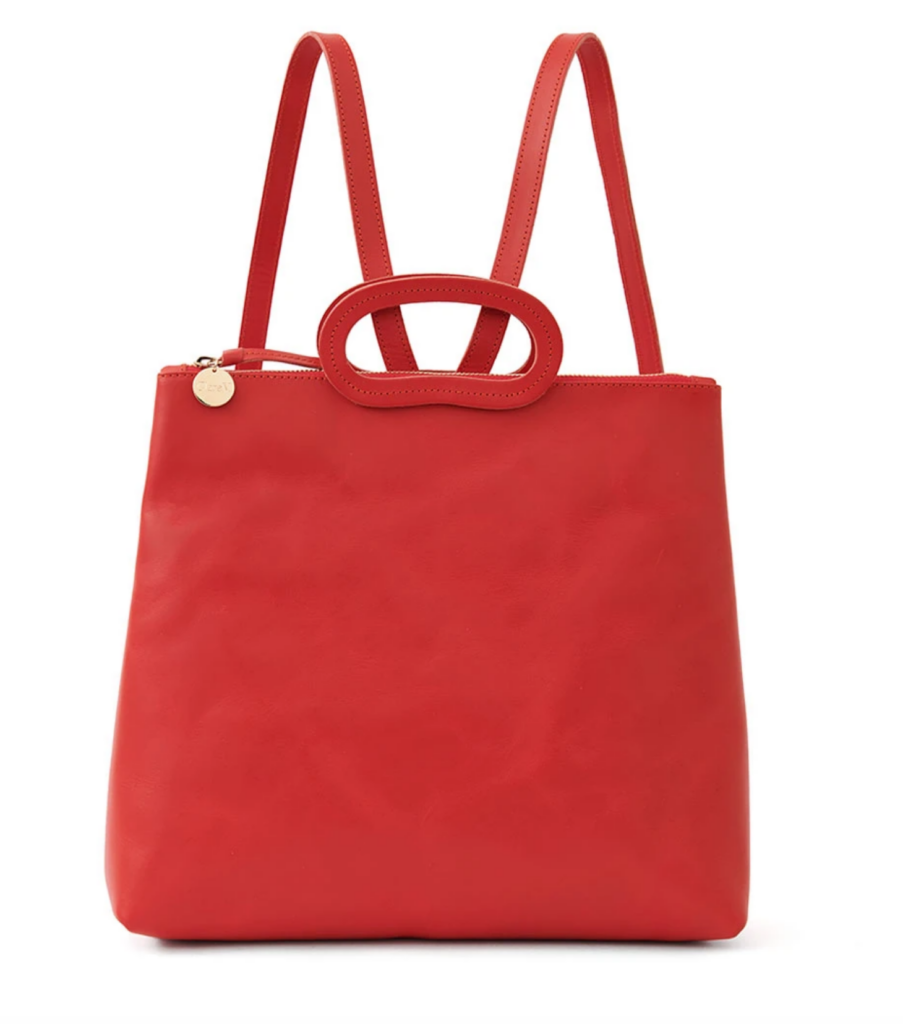 Marcelle Backpack in Cherry Red