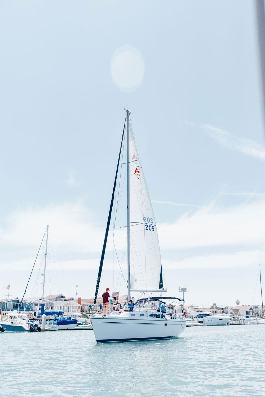 Sailing In Newport Beach