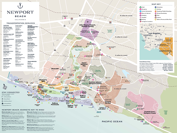 Map of Newport Beach,California