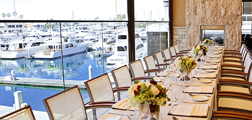newport beach conference services group dining