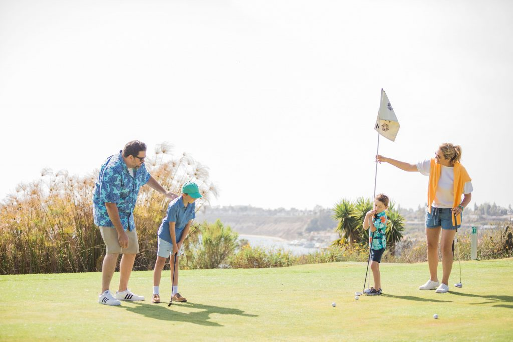 Tiny Tees Golf program at Hyatt Regency Newport Beach