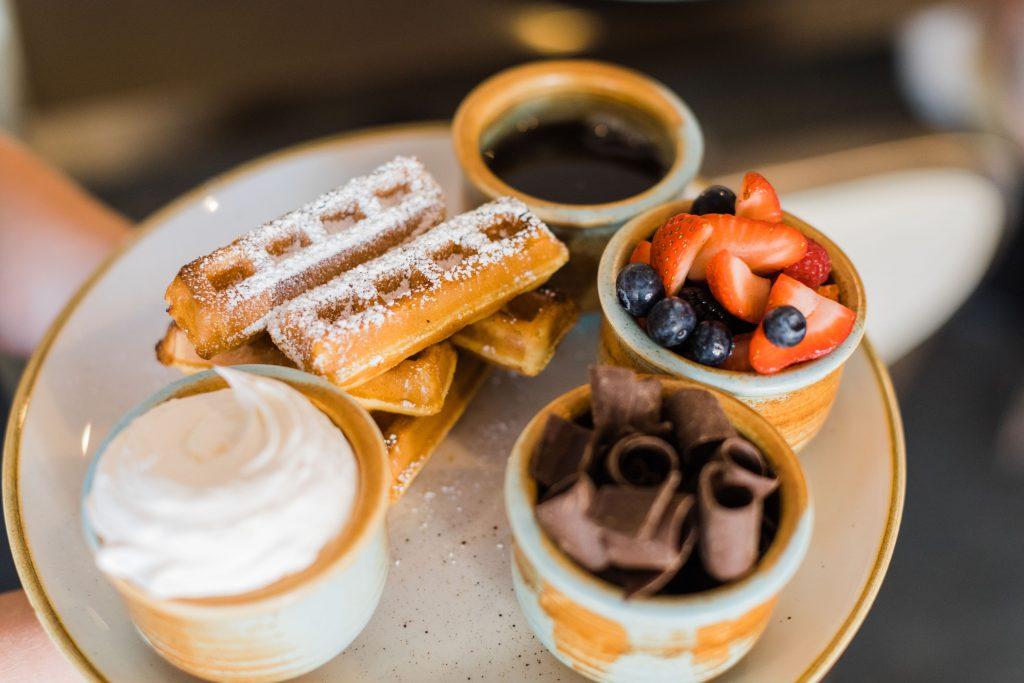SHOR's syrup-soaked waffle sticks