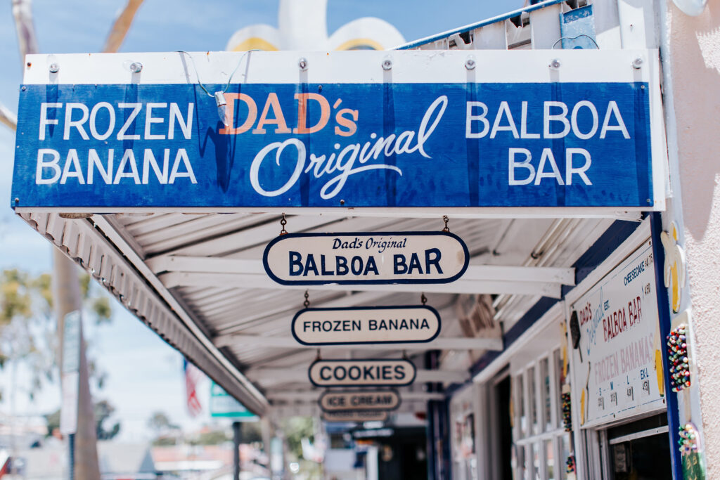 Dad's Donut's famous Balboa Bars before